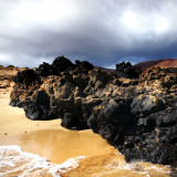 Lava rocks on beach