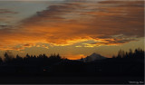 FIRE AT SUNRISE . . . OVER MT. HOOD