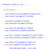 THE BEST WAY TO LIVE !!!