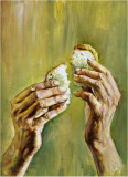 I OFFER YOU THE BREAD OF LIFE.