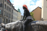 Blitz-girl riding the Oslo Tiger