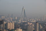 Ryugyong Hotel. Construction started in 1987. Still far from finished.