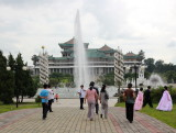 Mansudae Fountain Park and Grand People's Study House