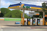 Petrol station and tumulis