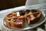 home-made pie from Elisabetta, the hostess...