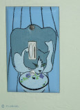 Enamelled Switch Cover:            Blue Cat