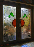 Woods Inspired Stained Glass Doors