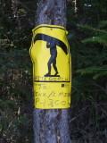 Portage Sign  Algonquin Park