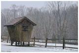 Corn Crib in Winter
