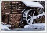 Snowy Water Wheel at Cuttalossa