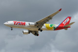 TAM Airbus A330-200 PT-MVN Football 2010 and Signatures