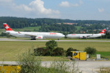 Swiss Airbus A330-300 HB-JHC & Swiss Airbus A340-300 HB-JMG