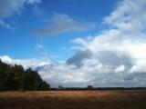 Clouds over heathland