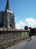 Passing the church