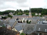 Church and rooftops