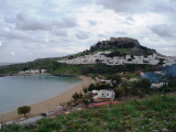Acropolis, town and bay