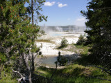 Geyser basin vista