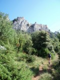Hiking to the castle