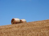 Two bales of straw