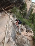 Deeper into the canyon