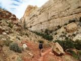 Towards the cliffs