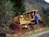 Climbing the bulldozer