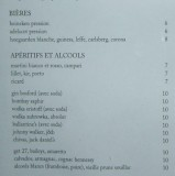 Café Marly Menu - Beer & Aperitifs