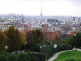 Looking over Chinatown from Parc des Buttes Chaumont to la Tour Eiffel