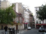 Looking down rue des Cascades