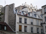 Houses on the corner of rue des Cascades