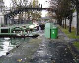 Canauxrama in the locks at Bassin de la Villette at Place de la Bataille de Stalingrad