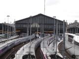 Trains Snaking into Gare du Nord - from Bd de la Chapelle
