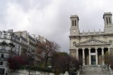 Eglise St-Vincent-de-Paul and belle Haussmannian Buildings
