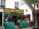 Setting up at Shakespeare & Co.