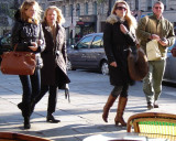 What They're Wearing in St-Germain-des-Pres - Black Coats & Boots