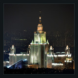 Moscow at night (Moscow University)