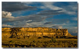 Cliffs at sunset 2, Chaco Canyon