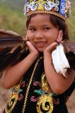 Rina, The Little Girl of Kenyah Dayak
