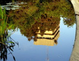 Gan Meir pond Beit Jabotinsky reflection