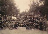 Templer bicycling club -- taken at exhibit at Eretz Israel Museum, Tel Aviv