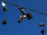 hanging shoes from electric line.JPG