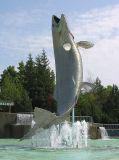 Atlantic Salmon fountain - view 1