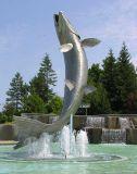 Atlantic Salmon fountain - view 2