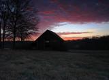 Old Barn Under Winter Sky