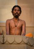 Meditation on the banks of the Ganga