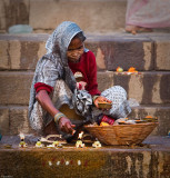 Lighting the prayer Candles