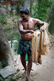 Throwing the fishing net