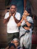 Worshiping at the banks of the Ganga