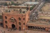 New Delhi, view from the Minaret of Juma Masjid