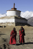 Monks at Reting Monastery